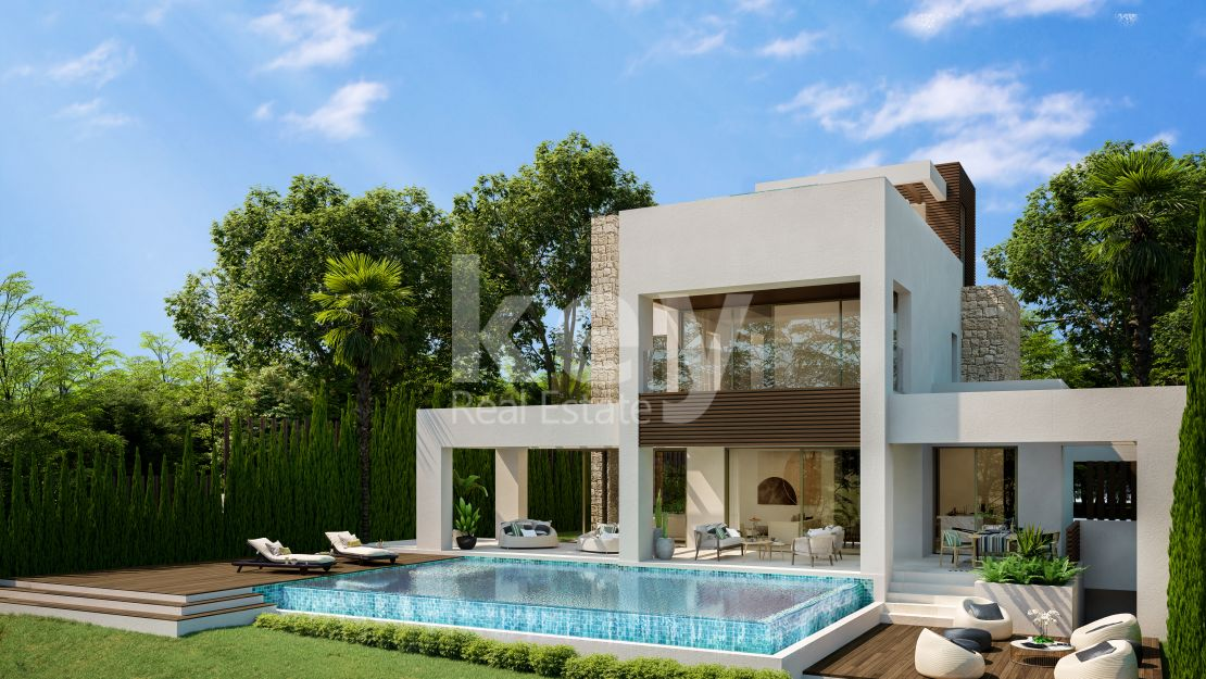 New sea views villa in Golden Mile, Marbella