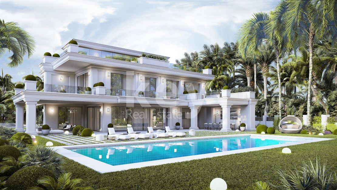 New luxury villa close to the beach in Lomas de Marbella Club, Golden Mile