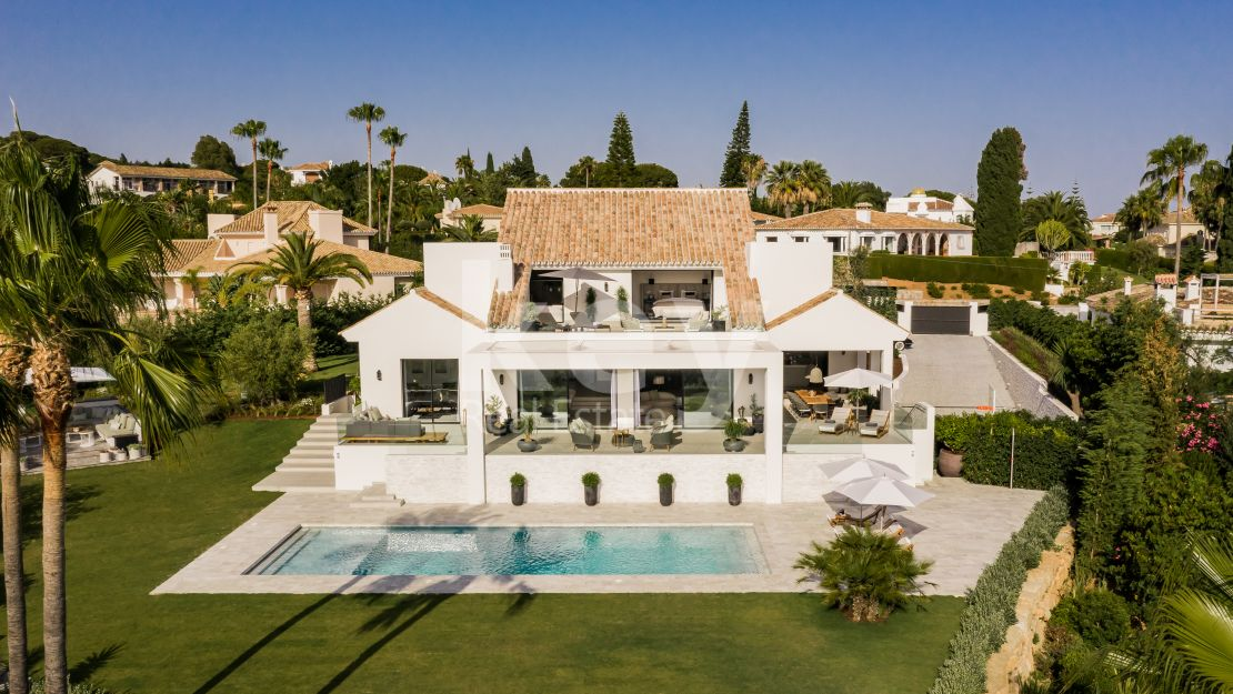 Sea views beautiful modern villa in Elviria, Marbella East