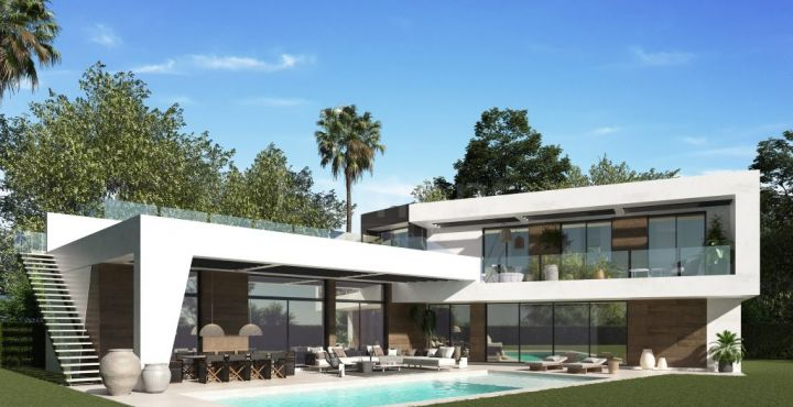 New build modern villa for sale in Guadalmina Baja