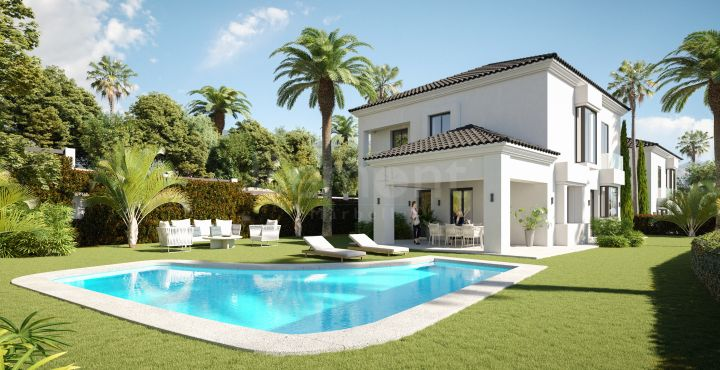 Brand new semi-detached villa for sale in Elviria, Marbella East