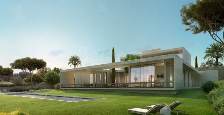 Newly built golf villa with sea views for sale in Marbella West