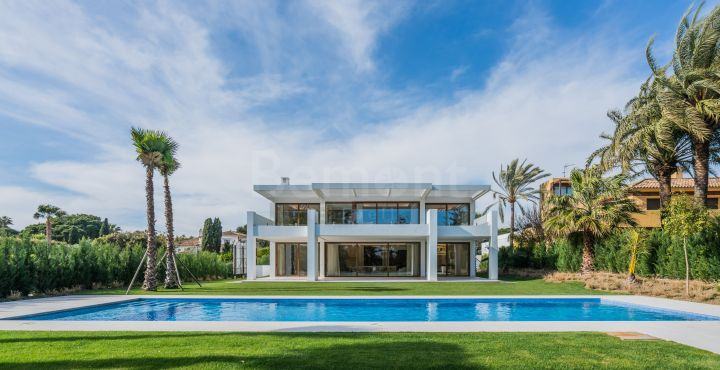 Contemporary beach villa for sale in Marbella West