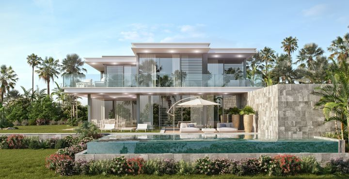 Stunning luxury new villa for sale with golf views in Cabopino, Marbella East