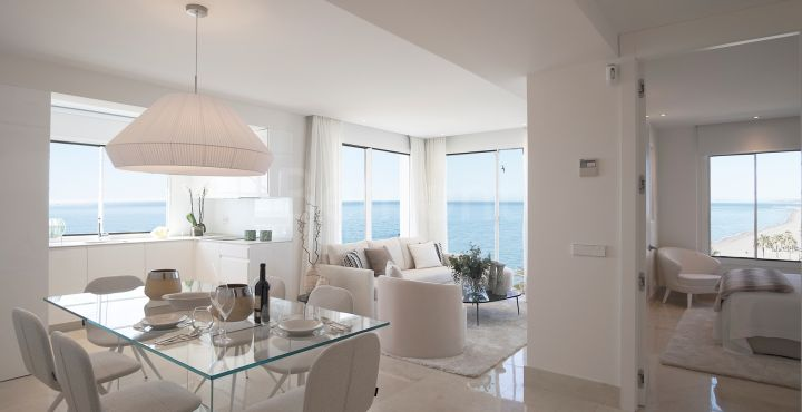 Modern front line beach apartment for sale in Estepona Playa