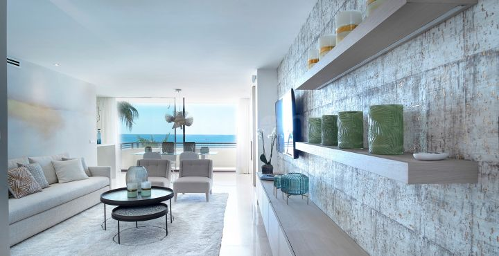 Front line beach contemporary apartment for sale Estepona, Marbella West