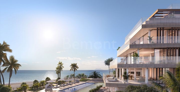 Modern front line beach apartment for sale in Estepona, Marbella West