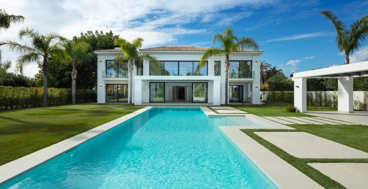 New build beach villa for sale in Marbella West
