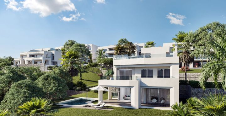 Modern brand new villa for sale in Santa Clara Golf, Marbella East