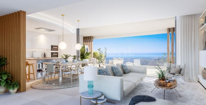 3-Bedroom golf apartment with panoramic views for sale in Marbella West