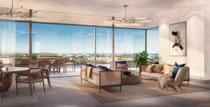 Modern apartment with panoramic sea views for sale in Marbella West