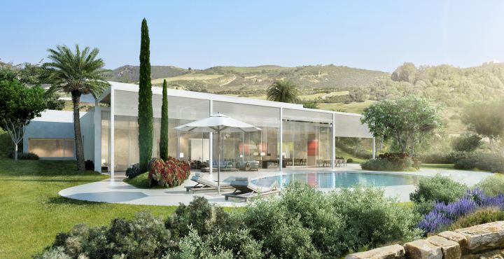 Newly built 4 bedroom golf villa for sale in Marbella West