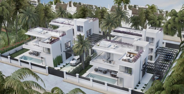 New build modern villas for sale in Marbella Golden Mile