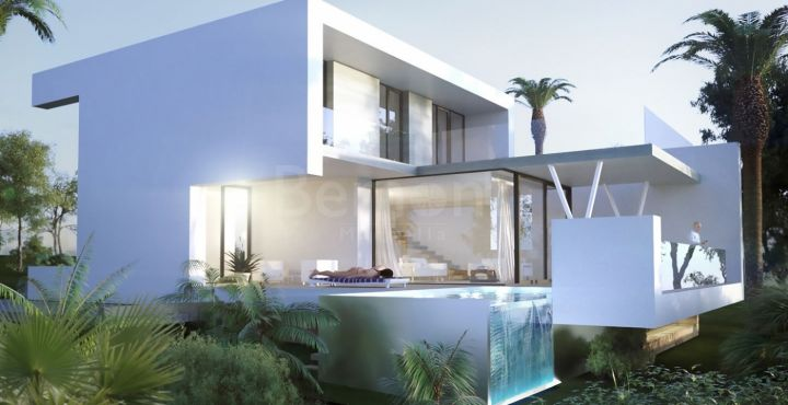 New modern front line golf villas for sale in El Campanario, Estepona
