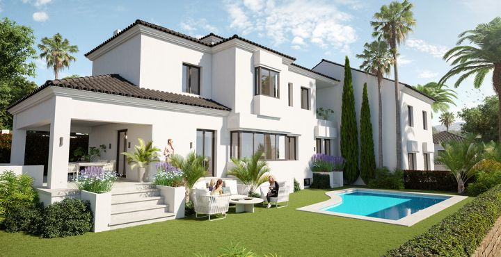 Brand new villas with golf views for sale in Elviria, Marbella East