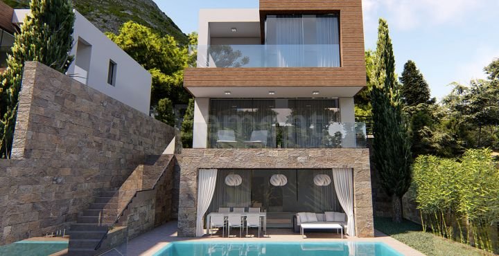 Contemporary new build villas for sale in Mijas Pueblo