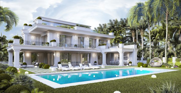 Luxury beachside villas for sale in Marbella Golden Mile