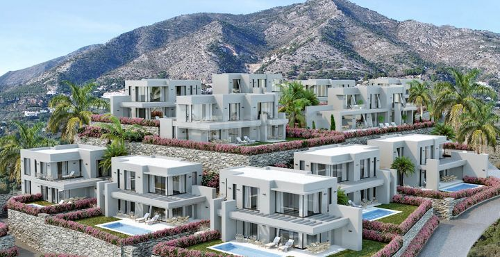 Modern new build villas for sale in Mijas Pueblo