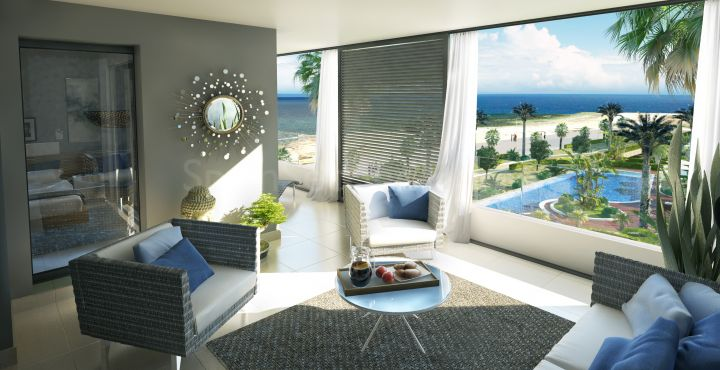 Brand new frontline beach apartment with sea views for sale in Punta Prima, Costa Blanca South