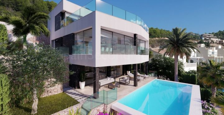 Newly built 3-bedroom villa for sale in Calpe, Costa Blanca North