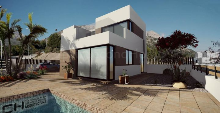 Contemporary new build villa for sale in Polop, Costa Blanca North