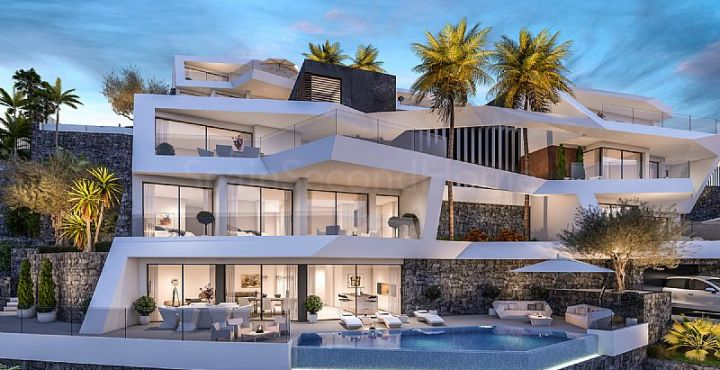 Modern villa with sea views for sale in Altea, Costa Blanca North
