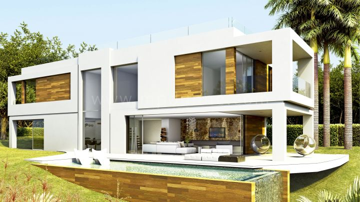 Estepona, Villas Fusion, El Campanario, Atalaya, Estepona, Contemporary Villas for Sale under construction