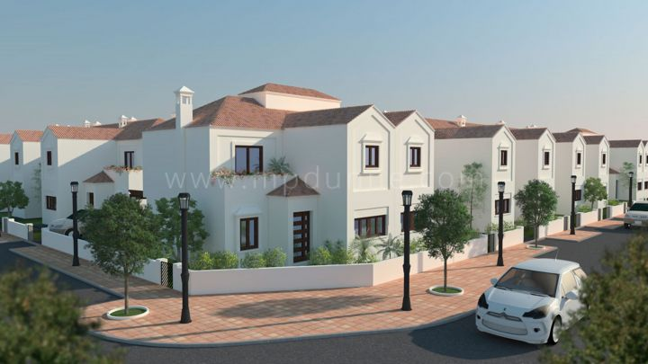 Mijas Costa, Pueblo La Noria Fase II, Off Plan Modern 4 bed townhouses for sale