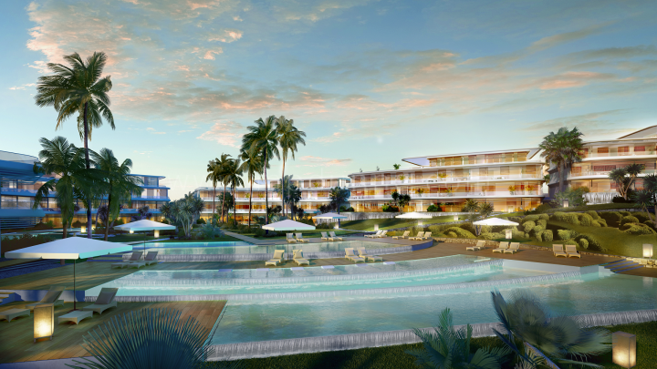 Estepona, The Edge, Estepona, Luxury Off Plan ground floor apartment with garden for sale Beachfront