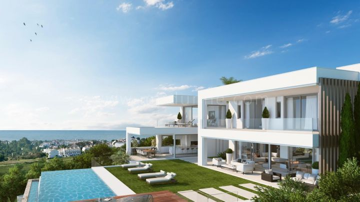 Estepona, Off-plan contemporary frontline golf villa in Atalaya (Benahavis) with sea views