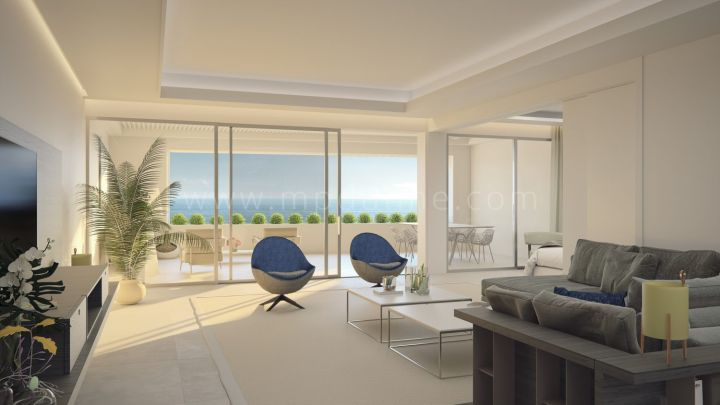 Estepona, New frontline beach modern apartment in Estepona town