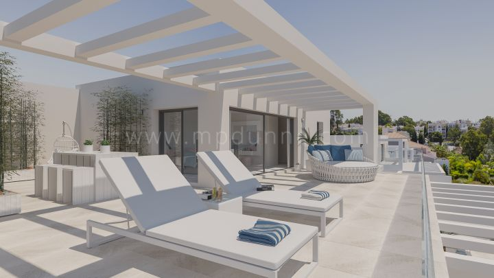Estepona, Two and three bedroom new modern apartments in the New Golden Mile, Estepona
