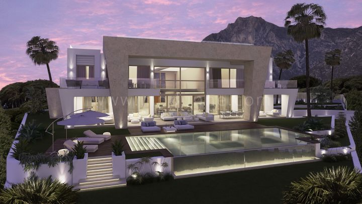 Marbella Golden Mile, Superb villa project i Sierra Blanca