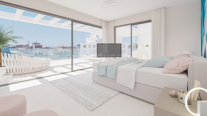 Estepona, Three bedroom modern new penthouse in the New Golden Mile, Estepona