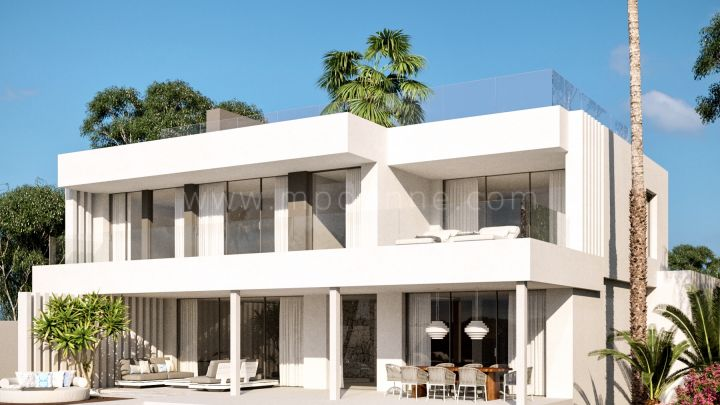 Estepona, Newly built modern villas within gated community in New Golden Mile, Estepona