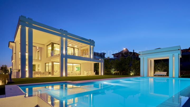Benahavis, Five Bedroom Villa in Los Flamingos Resort with Golf Views.