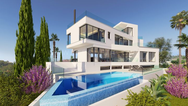 Benahavis, New Modern Contemporary Villa in La Quinta with Panoramic Views