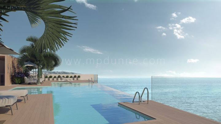 Estepona, New frontline beach modern penthouse in Estepona town