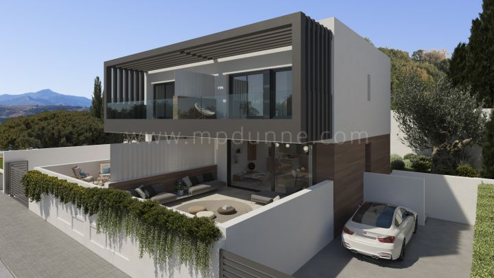 Estepona, Semi detached villa under construction in Atalaya, Estepona