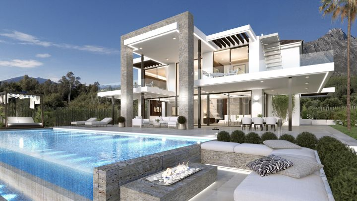 Marbella Golden Mile, Contemporary villa in Villas del Marqués, Marbella