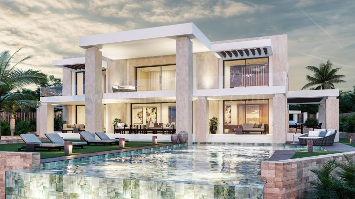 Marbella Golden Mile, Modern villa project in Sierra Blanca with panoramic views