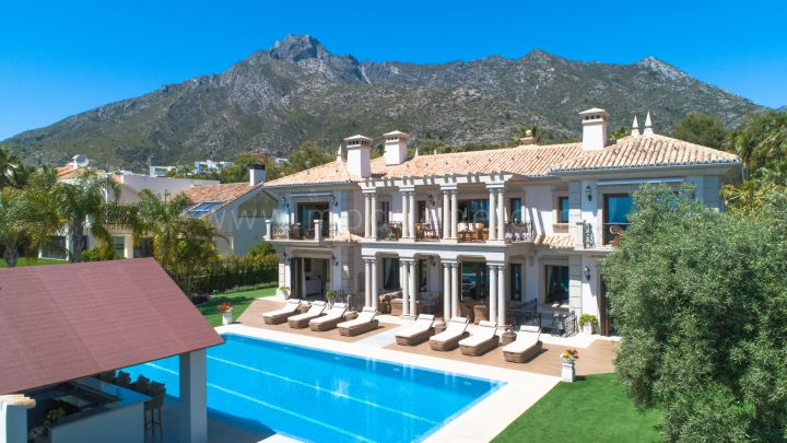 Marbella Golden Mile, Recently renovated villa in Sierra Blanca, Marbella