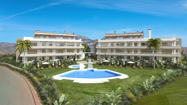 Mijas Costa, Modern apartments under construction frontline golf La Cala