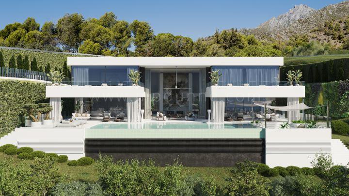 Benahavis, Impressive Villa under construction with panoramic views