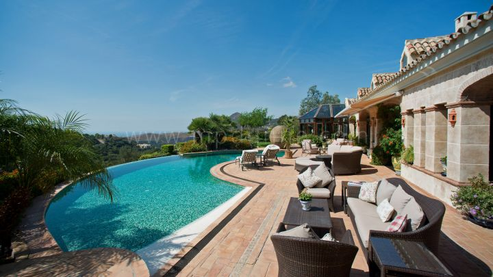 Benahavis, La Zagaleta Villa with Panoramic Sea & Golf Views
