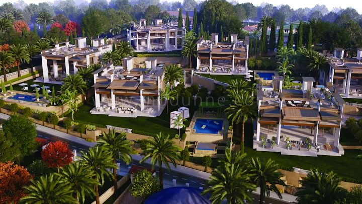 Marbella - Puerto Banus, Eight unique villas under construction in Atalaya de Rio Verde, Puerto Banus