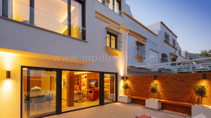 Marbella Golden Mile, Beachside refurbished townhouse in Marbella Golden Mile.