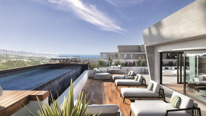 "Marbella Golden Mile, Epic by Fendi Unik ""Sky Villa"" Duplex Penthouse i Marbella Golden Mile"