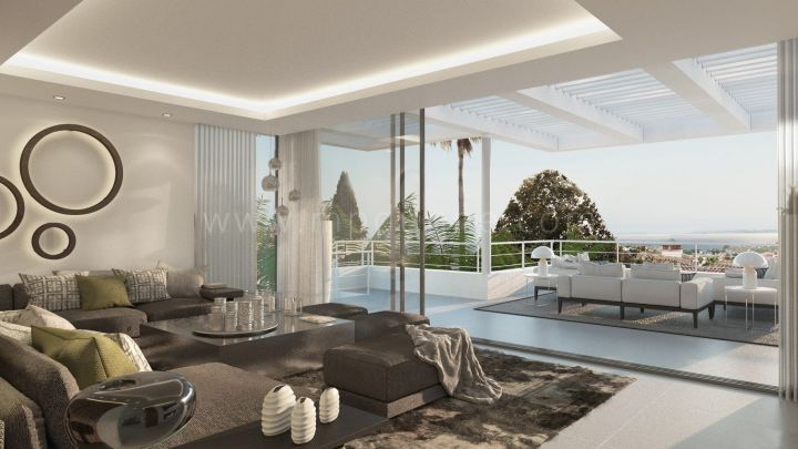 Marbella Golden Mile, New Modern Inventive Designer Villa in the heart of Marbella