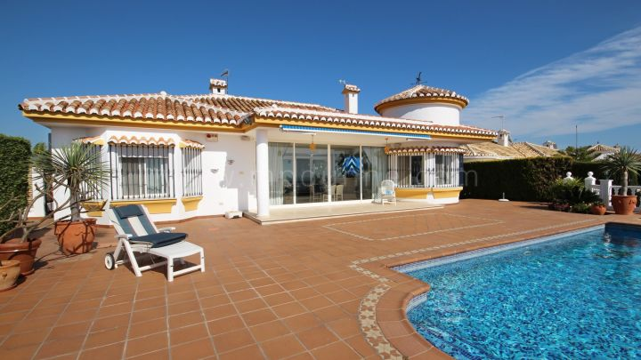 Mijas Costa, Reduced Price Villa for Sale in El Chaparral Golf with panoramic sea views